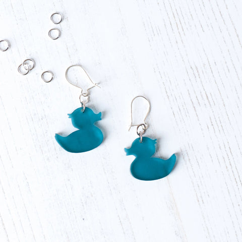Acrylic duck Earrings