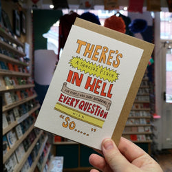 Curious Pancakes' There's a special place in Hell - Greetings Card