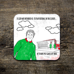 Clouds quote - Cloughie Coaster