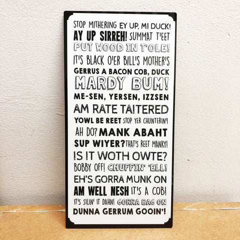 Derbyshire Phrases Plaque