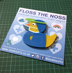 Floss the Noss - Acrylic Inlaid Handmade Fridge Magnet