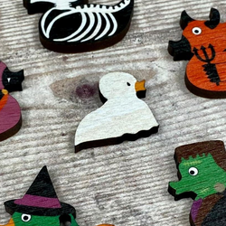 Little Boo the Ghost Wooden Pin