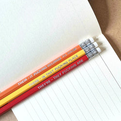 There, They're, Their pencils