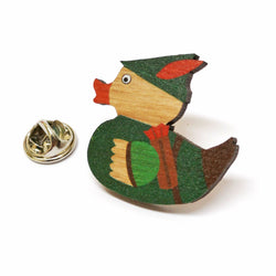 Robin of Duxley Wooden Pin