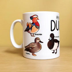 Ay Up Me Ducks Mug by Adelayde Art