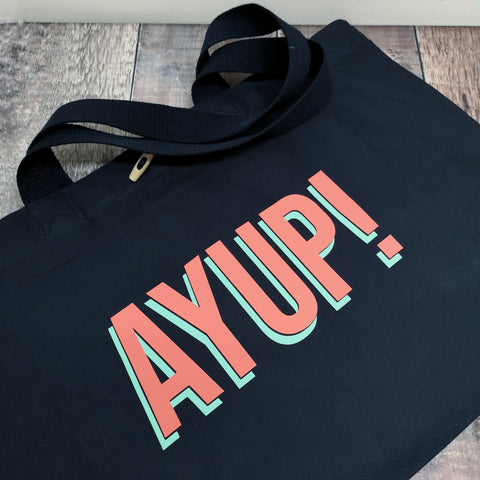 Ayup! heavyweight canvas beach bags
