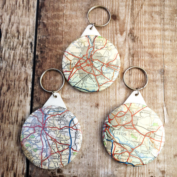 Map KEYRINGS (Derby, Chesterfield, Leeds and Sheffield)