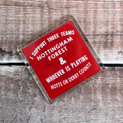 I Support Three Teams - Forest Fridge Magnet
