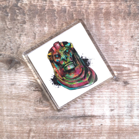 Graffiti Lion Fridge Magnet