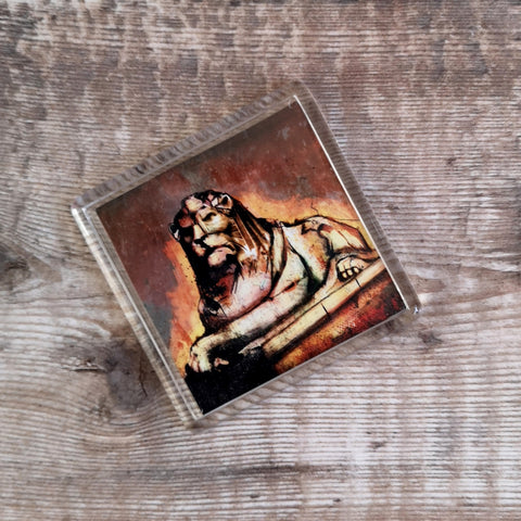 Right Lion Fridge Magnet