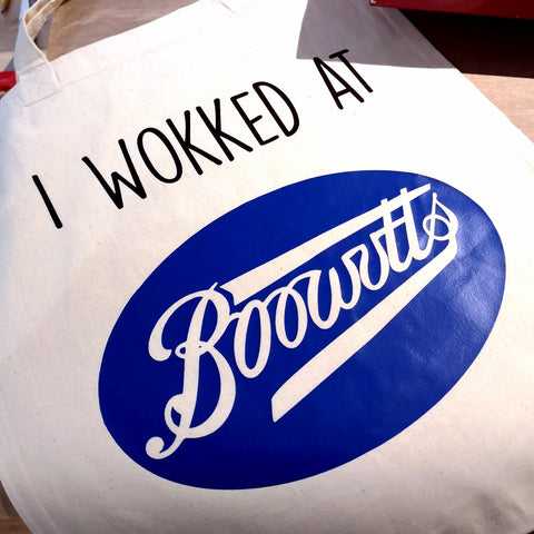 I wokked at Boowutts Tote bag