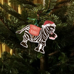 Stripey Bobbo Christmas Decoration