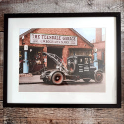 Framed Colourised Photograph of Teesdale Garage
