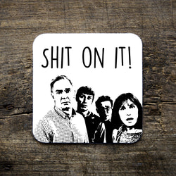 Shit on it graphic coaster