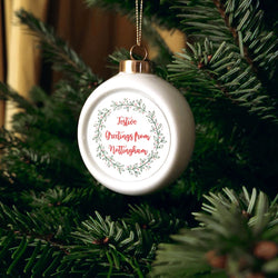 Ceramic Nottingham Christmas Baubles