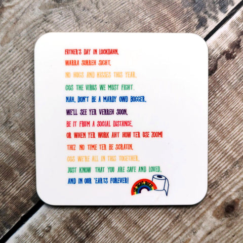 Father's Day in Lockdahn Poem Coaster