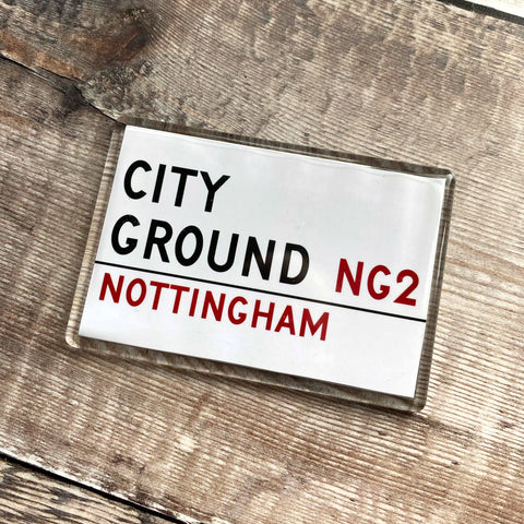 City Ground - Street Sign Magnet