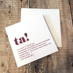 Ta! Greetings Card