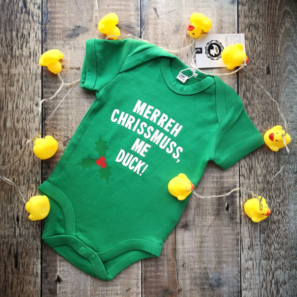 Merreh Chrissmuss, me duck! Baby grows
