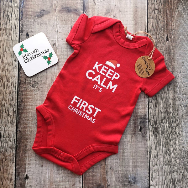 Keep calm, it's BABY'S first Christmas Baby grows