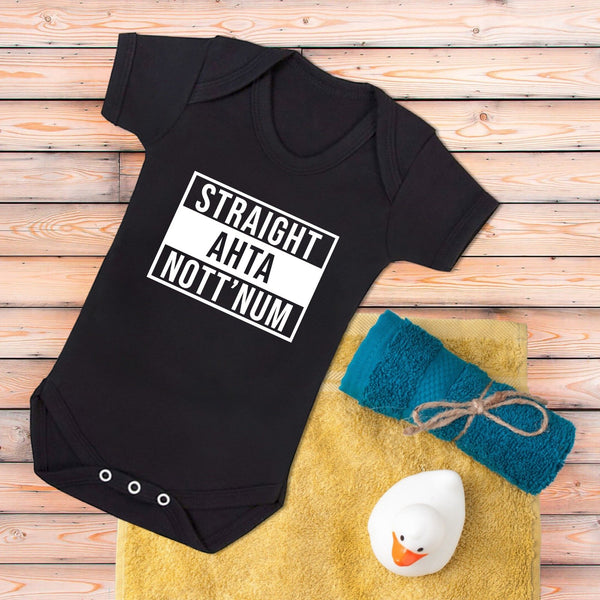 Straight Ahta Nott'num Baby Grows and Kids T-shirts