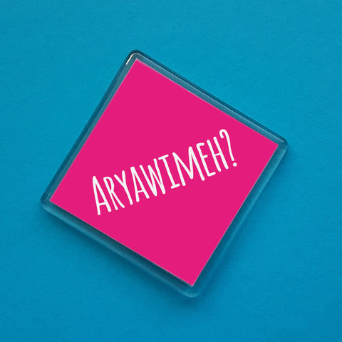 ARYAWIMEH Dialect Fridge Magnet