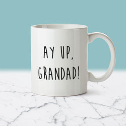 AY UP GRANDAD, GRANDAD GIFT, NOTTINGHAM, DIALECT, NOTTINGHAMSHIRE, EAST MIDLANDS, DUKKI, GIFTS