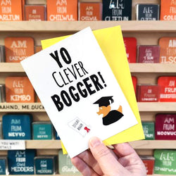Yo Clever Bogger! card
