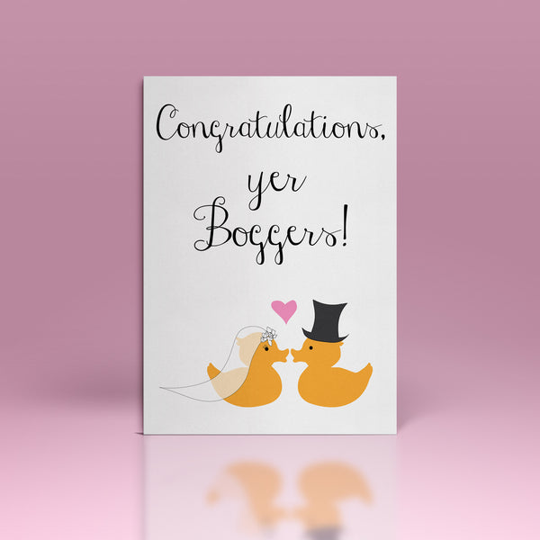CONGRATULATIONS, YER BOGGERS! CARDS