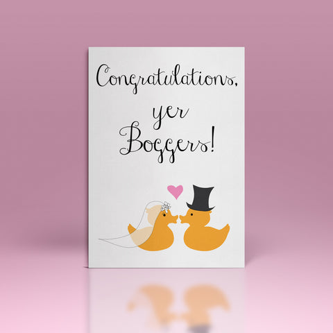 Congratulations, yer boggers! Wedding Cards
