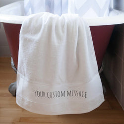 PERSONALISED PRINTED COTTON HAND TOWELS