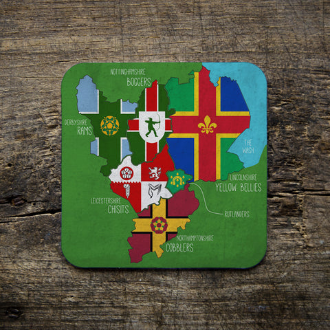 East Midlands Map Coasters