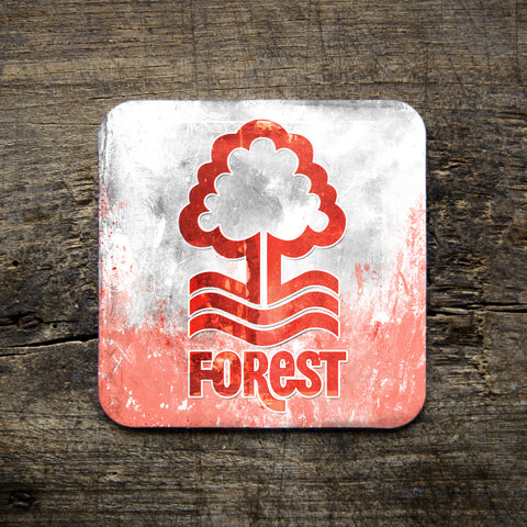 nottingham forest football club logo, coaster, red and white, forest, nottingham, giftware, home, dukki, east midlands, local heros