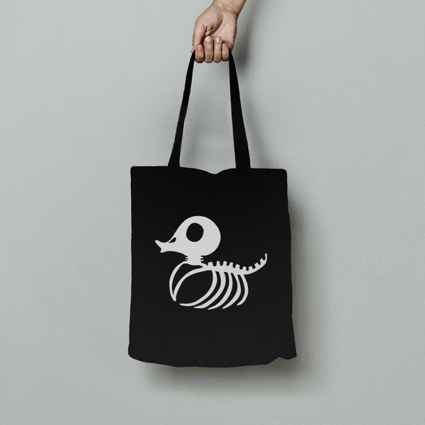 Trixy Styx Skeleton Duck Glow in the dark Cotton Tote Bag