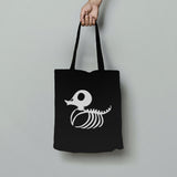 Trixy Styx Skeleton Duck (Glow in the Dark) Cotton Tote Bag