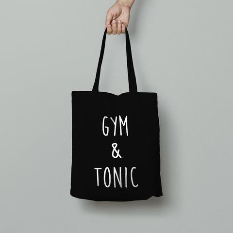 Gym and Tonic Cotton Tote Bags