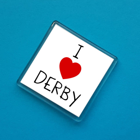 I love Derby Fridge Magnet