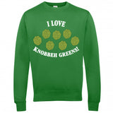 I Love Knobbeh Greens! Christmas Jumpers