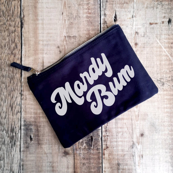 Mardy Bum! Canvas Make-up Bags