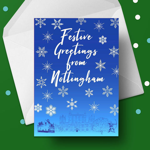 Festive Greetings from Nottingham Christmas Card