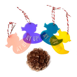 AY UP DUCK SHAPED HANGING DECORATIONS