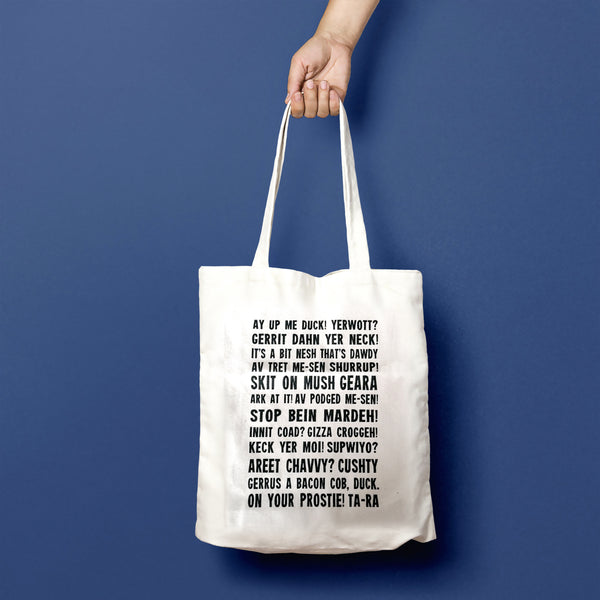 Newark Phrases Tote Bag