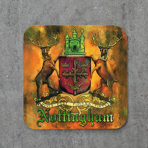 Nottingham Crest Coasters