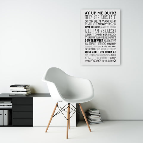 East Midlands Phrases photographic poster