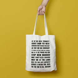 Notts Phrases Tote Bag