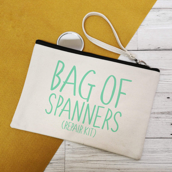 Bag of Spanners Canvas Make-up Bags