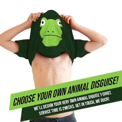 Kids Ask me about my ANIMAL disguise T-shirt - Build your own!