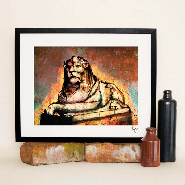 Right and Left Lion Limited Edition Prints