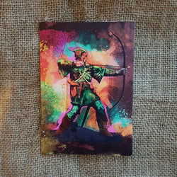 Colourful Robin Hood Card