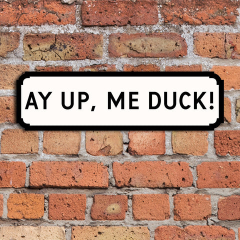 Ayup, me duck! Street Signs